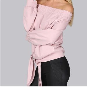 NEW Off the shoulder sweater with tie